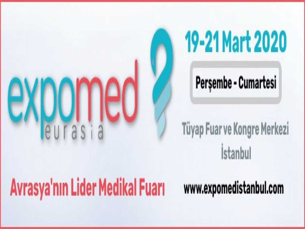 Sizi, 5-7 Kasım 2020 tarihlerinde Expomed Eurasia'daki Salon 3 301B numaralı standımıza bekliyoruz