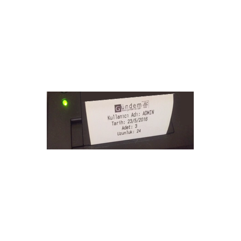 Termal Kağıt Rulosu Kesme-Kapatma-Yazma Serisi Cihazlar için -A155 (devam)
