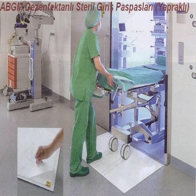Dezenfektanlı ve yapışkanlı ABGM® Steril Alan Giriş Paspasları